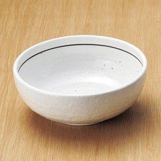 粉引ライン石目6.5ボール 和食器 麺ボール・多用ボール 業務用 約19.8cm 和食 和風 うどん 和風らーめん サラダボウル