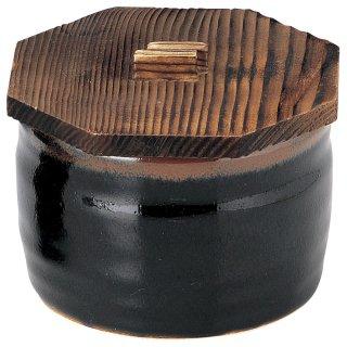 ゆず天目 飯器 木蓋付 和食器 飯器 業務用 約11cm 和食 和風 白米飯 炊き込みご飯