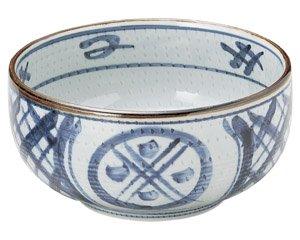 古染間取丸紋 6.0ボール 和食器 麺ボール・多用ボール 業務用 約18.3cm 和食 和風 うどん 和風らーめん サラダボウル