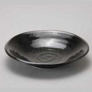 らせんブラック 7寸深皿 和食器 丸皿(中) 業務用 約21.5cm 和食 和風 中皿 主菜 定食