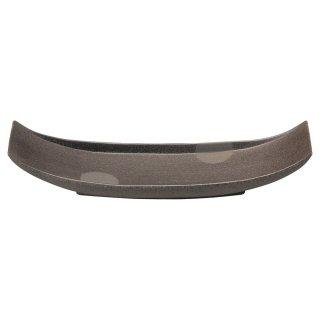 炭化土 舟型32cm長皿 和食器 細長皿(大) 業務用 約32cm 和食 和風 刺身 寿司 焼き物 串物
