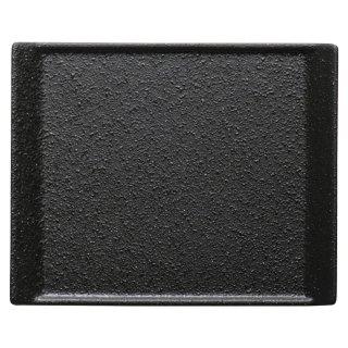 クロッシュ18.5cmプレート 黒い器 洋食器 長角プレート(S) 業務用 約18.7cm 角皿 小さめ 長角皿 取り皿 串皿