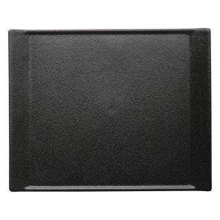 クロッシュ28.5cmプレート 黒い器 洋食器 長角プレート(M) 業務用 約28.5cm 長皿 角皿 中皿 前菜 オードブル