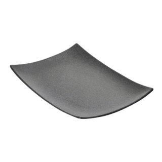 BONITA ボニータ 27cm角プラター 黒い器 洋食器 長角プレート(M) 業務用 約27.4cm 長皿 角皿 中皿 前菜
