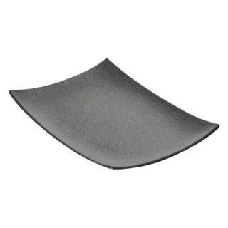 BONITA ボニータ 30.5cm角プラター 黒い器 洋食器 長角プレート(L) 業務用 約30.5cm 長皿 角皿 大皿