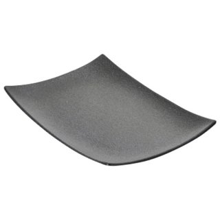 BONITA ボニータ 33.5cm角プラター 黒い器 洋食器 長角プレート(L) 業務用 約33.6cm 長皿 角皿 大皿