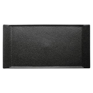 クロッシュ35.5cmプラター 黒い器 洋食器 長角プレート(L) 業務用 約35.9cm 長皿 角皿 前菜 オードブル