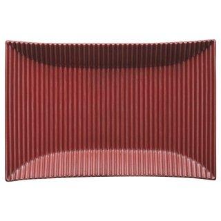 モデラート 赤長角皿 洋食器 長角プレート(M) 業務用 約24cm 長皿 角皿 中皿 前菜 オードブル 焼物皿 シンプル