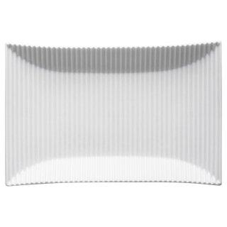 モデラート 白長角皿 白い器 洋食器 長角プレート(M) 業務用 約24cm 長皿 角皿 中皿 前菜 オードブル 焼物皿