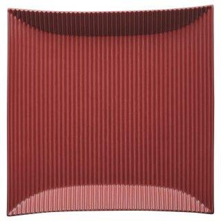 モデラート 大 赤正角皿 洋食器 長角プレート(M) 業務用 約25.7cm 長皿 角皿 中皿 前菜 オードブル 焼物皿
