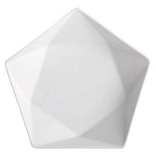 アポロ白20cm浅ボール 白い器 洋食器 楕円・変形ボール(M) 業務用 約21cm 五角 五角形 お皿 シンプル モダン
