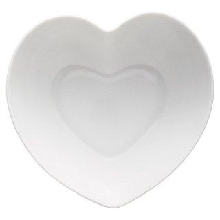 ハートボール 大 白い器 洋食器 楕円・変形ボール(S) 業務用 約16cm 洋食 ボウル