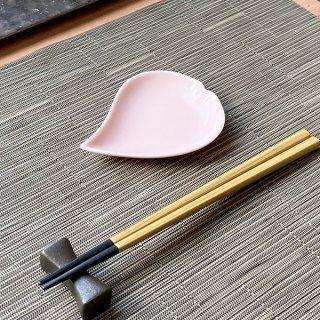 ひとひらピンク小皿 洋食器 楕円・変形プレート(S) 業務用 約18cm デザートプレート 和菓子 洋菓子 ケーキ カフェ
