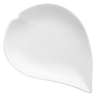 ひとひら白小皿 洋食器 楕円・変形プレート(S) 業務用 約18cm 白 デザートプレート 和菓子 洋菓子 ケーキ カフェ