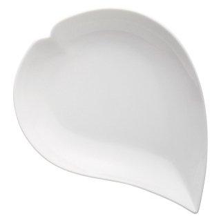 ひとひら白盛皿 洋食器 楕円・変形プレート(M) 業務用 約25cm モダン おしゃれ オードブル ホテル