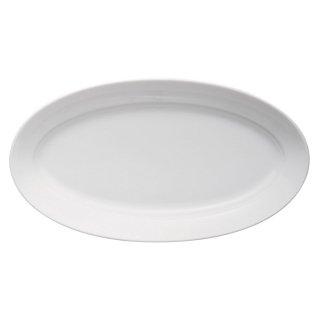 パエリア34cmプラター 白い器 洋食器 楕円・変形プレート(L) 業務用  結婚パーティー ディナープレート