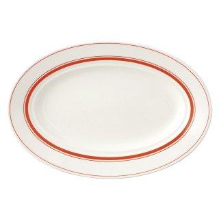 カントリーオレンジ 26.5cmプラター 洋食器 楕円・変形プレート(M) 業務用 約26.5cm モダン