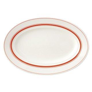 カントリーオレンジ 33cmプラター 洋食器 楕円・変形プレート(L) 業務用 約33cm 洋食レストラン 大皿