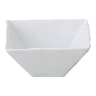 シャープ&モダン 白 スクエアボール 小 白い器 洋食器 正角ボール(M) 業務用 約11.5cm