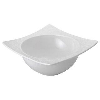 白磁石目5.5深鉢 洋食器 正角ボール(M) 業務用 約15.4cm 洋食 ボウル