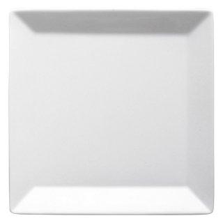 キャレ18cmスクエアプレート 白い器 洋食器 正角プレート(S) 業務用 約17.8cm マリネ デザート 前菜皿 四角 中皿