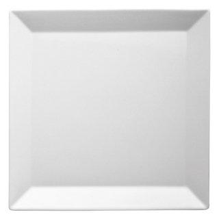キャレ25cmスクエアプレート 白い器 洋食器 正角プレート(M) 業務用 約24.5cm デザート 前菜 お皿 四角 スクエア