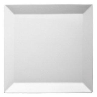 キャレ27cmスクエアプレート 白い器 洋食器 正角プレート(L) 業務用 約26.8cm ハンバーグ お皿 四角 スクエア