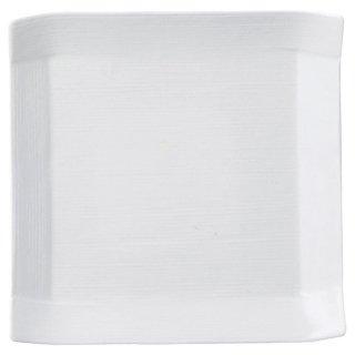 こより 白マット 正角中皿 白い器 洋食器 正角プレート(S) 業務用 約16.5cm マリネ デザート 前菜 皿 四角 中皿