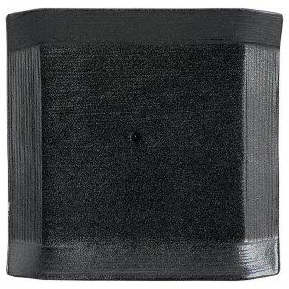 こより 黒マット 正角中皿 黒い器 洋食器 正角プレート(S) 業務用 約16.5cm マリネ デザート 前菜 皿 四角 中皿