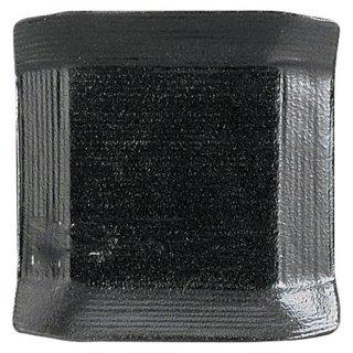 こより 黒マット 小皿 黒い器 洋食器 正角プレート(SS) 業務用 約8cm 四角 角皿 おしゃれ モダン シンプル カフェ