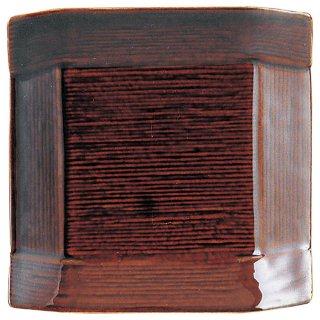こより アメ釉 取皿 洋食器 正角プレート(SS) 業務用 約12cm 四角 角皿 おしゃれ モダン シンプル カフェ カフェ風