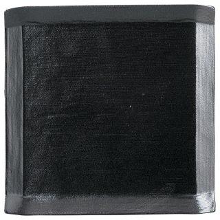 こより 黒マット 角大皿 黒い器 洋食器 正角プレート(M) 業務用 約24cm デザート 前菜 オードブル お皿 四角