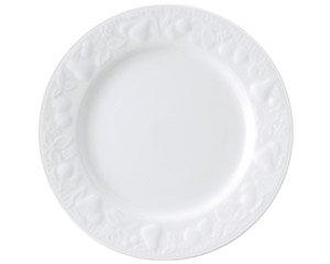 フルーツレリーフ 7 1/2吋ミート 白い器 洋食器 丸型プレート(M) 業務用 約20cm 丸皿 中皿 洋食 白いお皿
