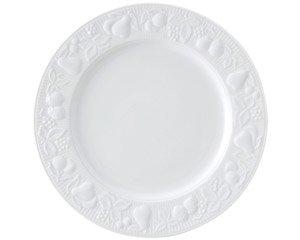 フルーツレリーフ 10吋 3/4ミート 白い器 洋食器 丸型プレート(L) 業務用 約27.5cm 肉料理 魚料理