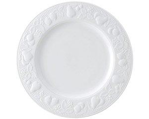 フルーツレリーフ 12吋ミート 白い器 洋食器 丸型プレート(LL) 業務用 約31cm 洋食 創作料理 主菜 肉料理
