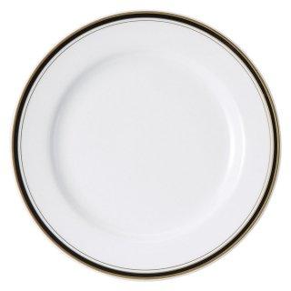 ムーンリバー ウルトラホワイト 10吋ミート 洋食器 丸型プレート(L) 業務用 約25.5cm 肉料理 魚料理
