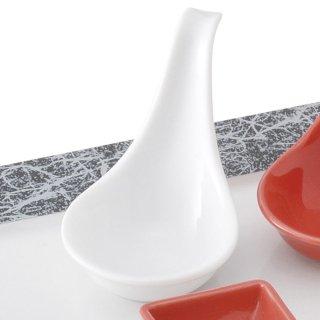 ピュアホワイト置レンゲ 白い器 洋食器 アミューズ 業務用 約10cm 前菜 おしゃれ モダン ミニ イタリアンレストラン