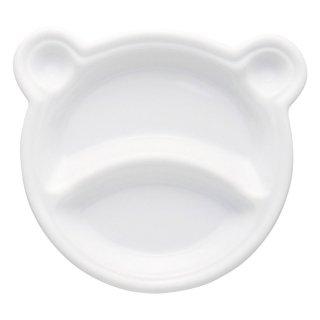 仕切プレートくまちゃんキッズプレート 洋食器 ランチプレート 業務用 約18cm 洋食 仕切皿 ワンプレート