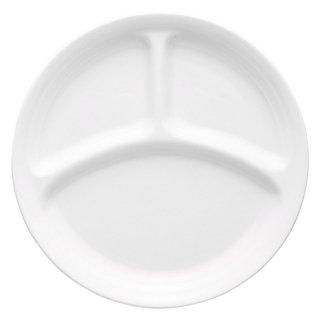 WHITE仕切皿 強化 洋食器 ランチプレート 業務用 約21.6cm 洋食 仕切皿 ワンプレート