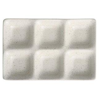 白うのふコワケ6品皿 洋食器 仕切プレート 業務用 約25.5cm ビュッフェ 仕切皿 おしゃれ