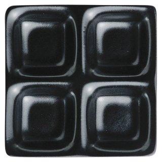 いぶし天目コワケ4品皿 黒い器 洋食器 仕切プレート 業務用 約17cm ビュッフェ 仕切皿 おしゃれ