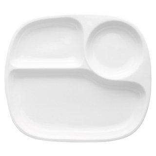 白磁軽量強化三つ仕切ランチ25cm 洋食器 ランチプレート 業務用 約25.1cm 洋食 仕切皿 ワンプレート