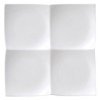 AngelWhite フォーインワンディッシュ 大・白 白い器 洋食器 仕切プレート 業務用 約27.5cm
