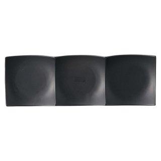Blackfairy スリーインディッシュ 大・黒 黒い器 洋食器 仕切プレート 業務用 約41.5cm ビュッフェ 仕切皿
