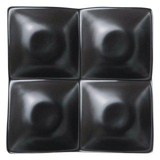 アペクス角鉢4P/BK 黒い器 洋食器 仕切プレート 業務用 約16.2cm ビュッフェ 仕切皿 おしゃれ