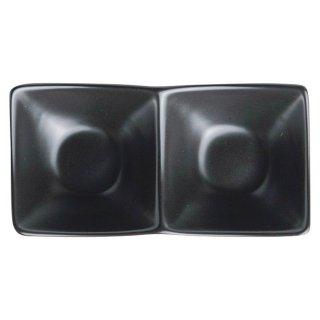 アペクス角鉢2P /BK 黒い器 洋食器 仕切プレート 業務用 約16cm ビュッフェ 仕切皿 おしゃれ