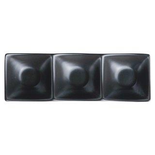 アペクス角鉢3P /BK 黒い器 洋食器 仕切プレート 業務用 約24.2cm ビュッフェ 仕切皿 おしゃれ