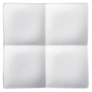 アペクス角鉢4P/WH 白い器 洋食器 仕切プレート 業務用 約16.2cm ビュッフェ 仕切皿 おしゃれ