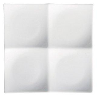 白磁浅口四品プレート 小 白い器 洋食器 仕切プレート 業務用 約19cm ビュッフェ 仕切皿 おしゃれ
