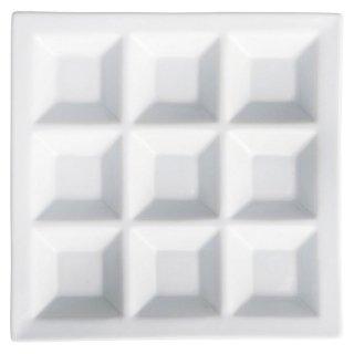白磁9品皿 白い器 洋食器 仕切プレート 業務用 約22.5cm ビュッフェ 仕切皿 おしゃれ